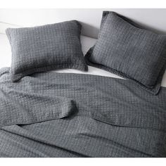 BYB Wrinkle Pewter Microfiber Stone-washed Quilt Set | Overstock.com Shopping - The Best Deals on Quilts