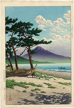 Kawase Hasui Title Pine Beach at Miho
