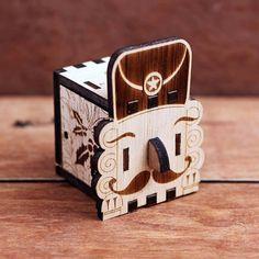 Music Box, interlocking hand crank wooden music box, DIY - great gift ( Nutcracker)