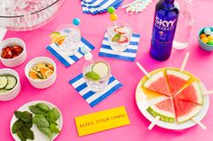 How to DIY the Perfect Summer Cocktail Bar via Brit + Co.
