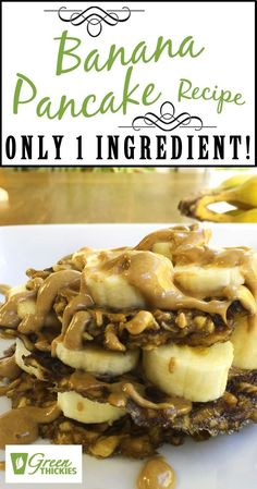 Today I'm sharing my Banana Pancake Recipe, and believe it or not, it contains only 1 Ingredient! And it doesn't take a genius to realise that the one ingredient must be bananas! Fruit Recipes, Smoothie Recipes, Fruit Facts, Fruit List, Banana Pancakes, Healthy Fruits, Cream Recipes, Fruit Smoothies, Bananas