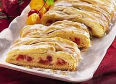 Strawberries n Cream Crescent Braid