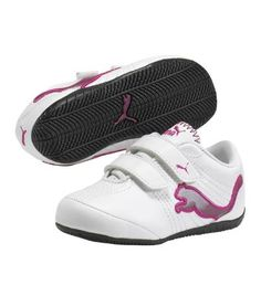 Love white tennis shoes on little girls.  They're better with no colors on them at all, but this might have to do.