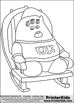 monsters university - dean hardscrabble #1 - coloring page ... - Pixar Coloring Pages Monsters