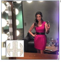 Jessica Vilchis wearing Foreign Exchange clothing while filming for the Tennis Channel. She looks adorable!  Also tweeted: Jessica Vilchis ‏@jessica_vilchis  Shooting #courtreport for #tennischannel in this lovely @FEclothing_com pink dress! Thanks @hautehousepr...