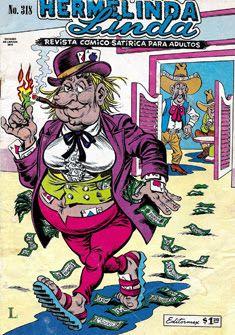 "Comics Mexicanos de Jediskater: Hermelinda Linda No. 318, ""Embrujando a Papa"", Mie... Vintage Comics, Retro, Comic Strips, Cartoons, Childhood, Mexican, Comic Books, Posters, Humor"