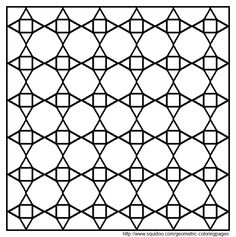 Tessellation with Hexagon, Triangle and Square coloring