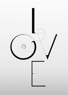 Love, via mydarkwhisper: WORK | Si Scott Studio. This piece is beautifully clean and represents simple in the best way possible. The only drawn portion is the line connecting the o and v. He has a way of making these letters look like shapes,; rectangles, circle and triangle. Great piece, its art without the decoration.