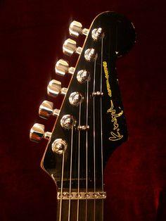 K.Nyui Custom Guitars ST type ''Mod.'' -Black / Ebony- 1989