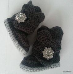Transazione Etsy - Wraparound Crochet Baby Boot (0-6 months)