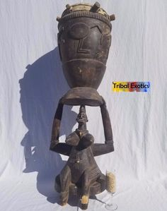 PREMIUM Tribal African Art - Senufo Drum Figure Sculpture Statue Mask | eBay