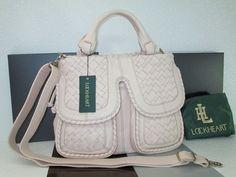 Lockheart Handbag  (Barcelona Malia, Ivory Leather, Designer Hand Bags)