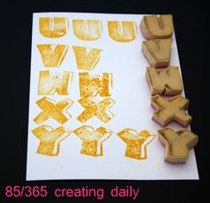 """Project """"365 - creating daily"""" day 85:  U-Y stamps Anke Humpert 3/2014  #365creatingdaily"""
