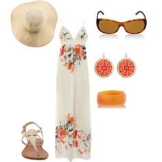 Peachy, created by tonja-moore on Polyvore