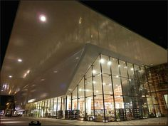 Stedelijk Museum Amsterdam by night Holland, Opera House, Amsterdam, Museum, Building, Night, The Nederlands, Buildings, The Netherlands
