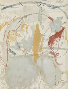 Helen Frankenthaler, Seven Types of Ambiguity, 1957. Oil on canvas, 95 1/2 × 70 1/8 in. Crystal Bridges Museum of American Art, Bentonville, Arkansas. © Helen Frankenthaler Foundation, Inc./Artists Rights Society(ARS), New York. Photo by Rob McKeever. Courtesy Gagosian Gallery.