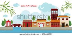 Chinatown Building and Park, Travel, Town, Traditional Culture