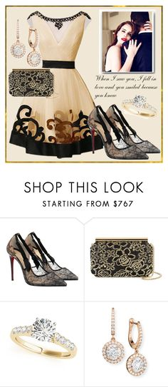 """""""Engagement Party..."""" by sweetadry ❤ liked on Polyvore featuring Christian Louboutin, Oscar de la Renta and Mémoire"""