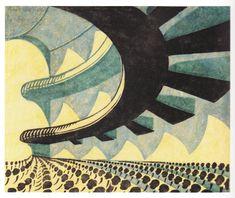 Canadian Linocut Genius Sybil Andrews: Concert Hall, 1929.