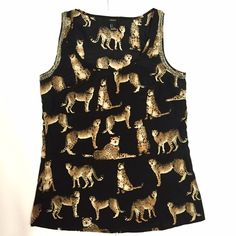 Leopard Beaded Tank Forever 21 leopard print tank with beading along arm openings. Excellent condition. Forever 21 Tops Blouses