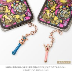 @Kristin West Moon Moon Sailor Moon Wand Phone Earphone Jack Accessories http://www.moonkitty.net/reviews-buy-sailor-moon-phone-cases-straps-charms.php #SailorMoon