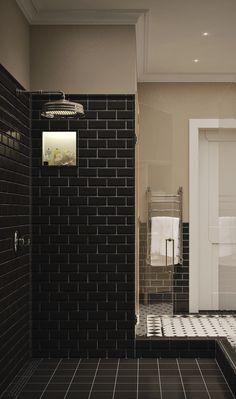 Душевая с  черной плиткой под кирпич   #ванная #душ #кирпич #черный Ещё фото http://iqpic.ru/%d0%b4%d1%83%d1%88%d0%b5%d0%b2%d0%b0%d1%8f-%d1%81-%d1%87%d0%b5%d1%80%d0%bd%d0%be%d0%b9-%d0%bf%d0%bb%d0%b8%d1%82%d0%ba%d0%be%d0%b9-%d0%bf%d0%be%d0%b4-%d0%ba%d0%b8%d1%80%d0%bf%d0%b8%d1%87