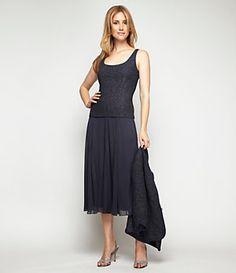 Alex Evenings Jacquard Twin Set & Mesh Skirt | Dillard's Mobile - possible Mother's dress for wedding