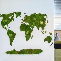Green World by www.innogreen.fi #mossart #moss #greenhousing #ghe
