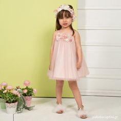 Βαπτιστικό Φόρεμα Ροζ Mi Chiamo K4298 Girls Dresses, Flower Girl Dresses, Christening, Girl Outfits, Wedding Dresses, Clothes, Fashion, Dresses Of Girls, Baby Clothes Girl