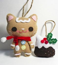 Christmas gingerbread cat. How cute for my cat loving friends.