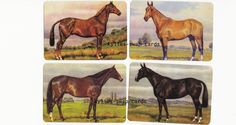 029 SET OF 4 swap playing cards MINT CONDITION horses horse theme