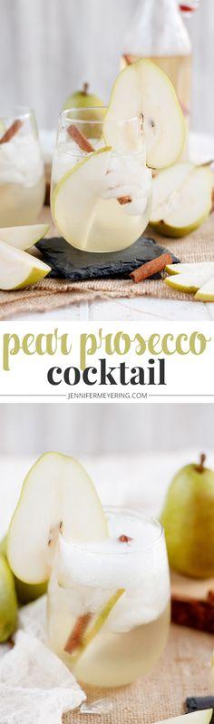 Pear Prosecco Cocktail - JenniferMeyering.com