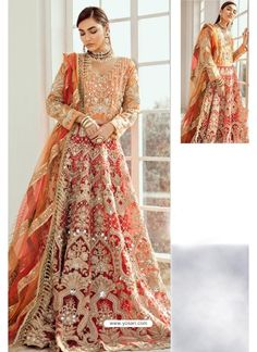 Red And Orange Heavy Designer Party Wear Suit Santa Outfit, Designer Salwar Suits, Patiala Salwar, Saree Look, Indian Ethnic Wear, Red Fabric, Suits For Women, Dress Making