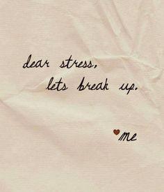 good break up!
