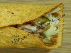 Shaorma Dukan - Retete Dieta Dukan Dukan Diet, Shawarma, Sandwiches, Food And Drink, Cooking Recipes, Ethnic Recipes, Tortillas, Wraps, Foods