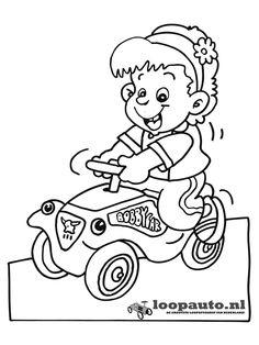 Kleurplaten.nl - Big Bobbi Car voor meisjes
