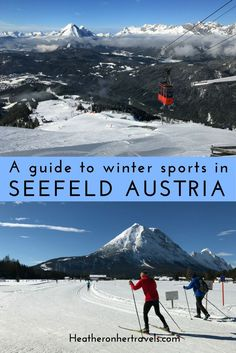 Read about all the winter sports on offer in Seefeld, Austria - with cross-country ski, winter hiking and more, there's a lot more to do than downhill ski Places Around The World, Travel Around The World, Austria Winter, Winter Hiking, Cross Country Skiing, Lake George, New Travel, Winter Sports, European Travel