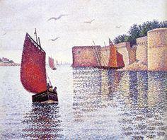 Sardine boat at Concarneau, Paul Signac, 1891