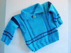 Pullover Aqua von Strickgut auf Etsy