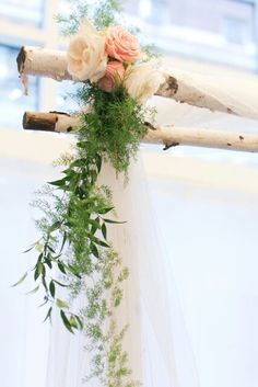 Sweet details on our birch structure Photo @JoeyKennedy