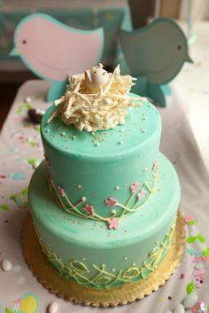 Nesting Bird Baby Shower Cake