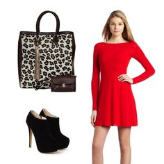 Mix this amazing bag with a red dress and some fancy boots!