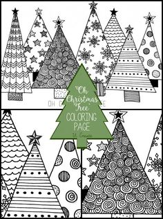 """Oh Christmas Tree"" Coloring Page"