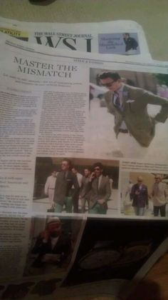 WSJ 'spezzato' mis-matched blazer and pants