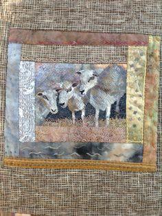 Sheep quilt detail: just been shorn!