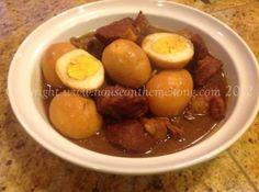 "Tom Khem: Caramelized pork & egg ""stew"" to be eaten with jasmine rice or sticky rice"