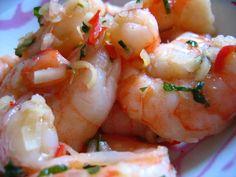 Salade de crevettes - Plah Goong