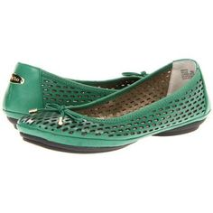 Cute comfortable shoes for St. Patrick's Day!    Me Too Fayla Women's Flat Shoes - Emerald Green