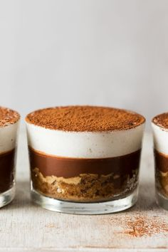 Vegan tiramisu is a delicious dessert inspired by the Italian classic! Coffee infused sponge, topped with a chocolate coffee ganache and fluffy cream.