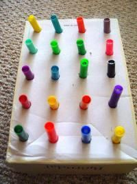Add color around the hole to make it a color matching activity